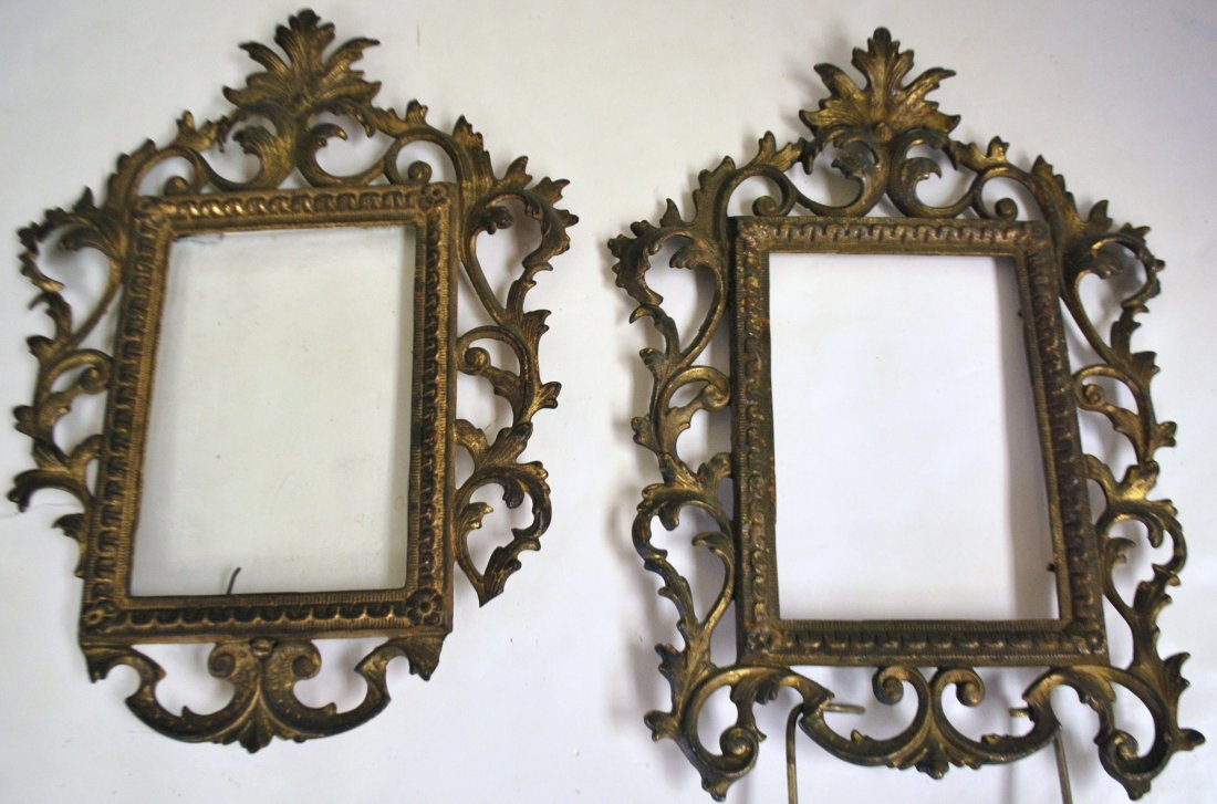 PAIR OF ANTIQUE BAROQUE STYLE PICTURE FRAMES