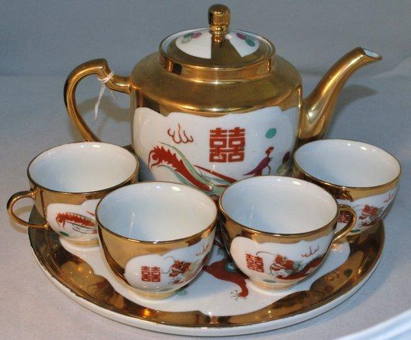 6PC ORIENTAL TEA SET