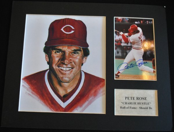 SIGNED PETE ROSE PHOTO