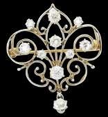 Antique 14k Gold 1.25 Ct TCW Old Miner Diamond Pendant