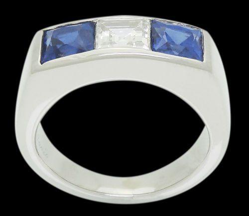 Cartier Estate 1930's Plat 1.75 Ct Sapphire & Diamonds