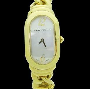 David Yurman 18k Y G Madison Link Bracelet Watch