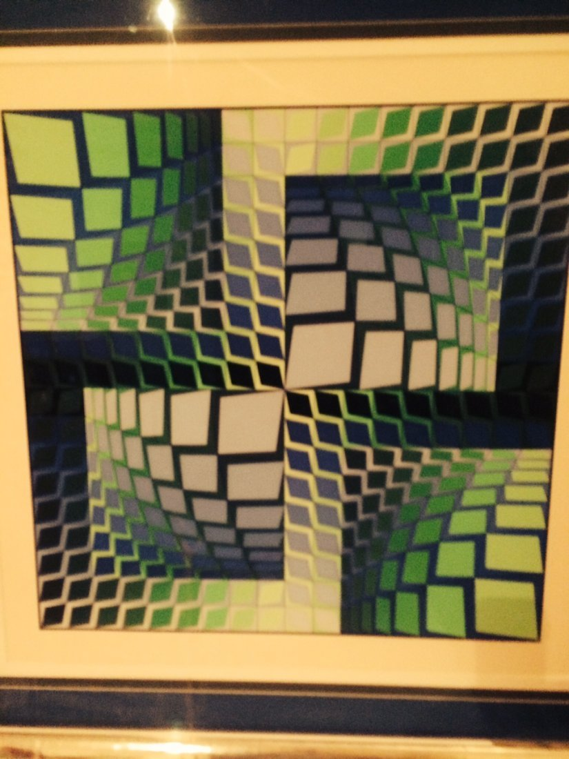 VICTOR VASARELY ORIGINAL LITHOGRAPH 8 OF 50 LIMITED RUN