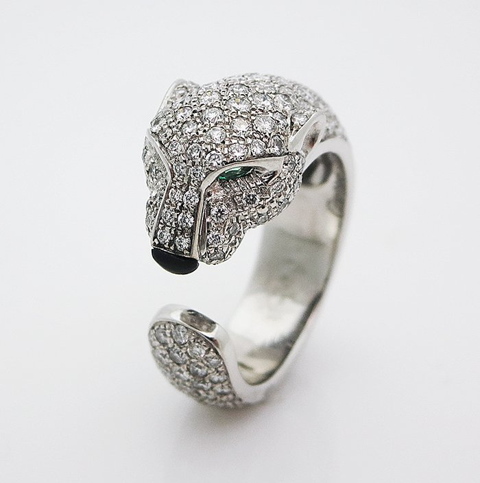 Cartier Panthere 18K White Gold Diamond Ring