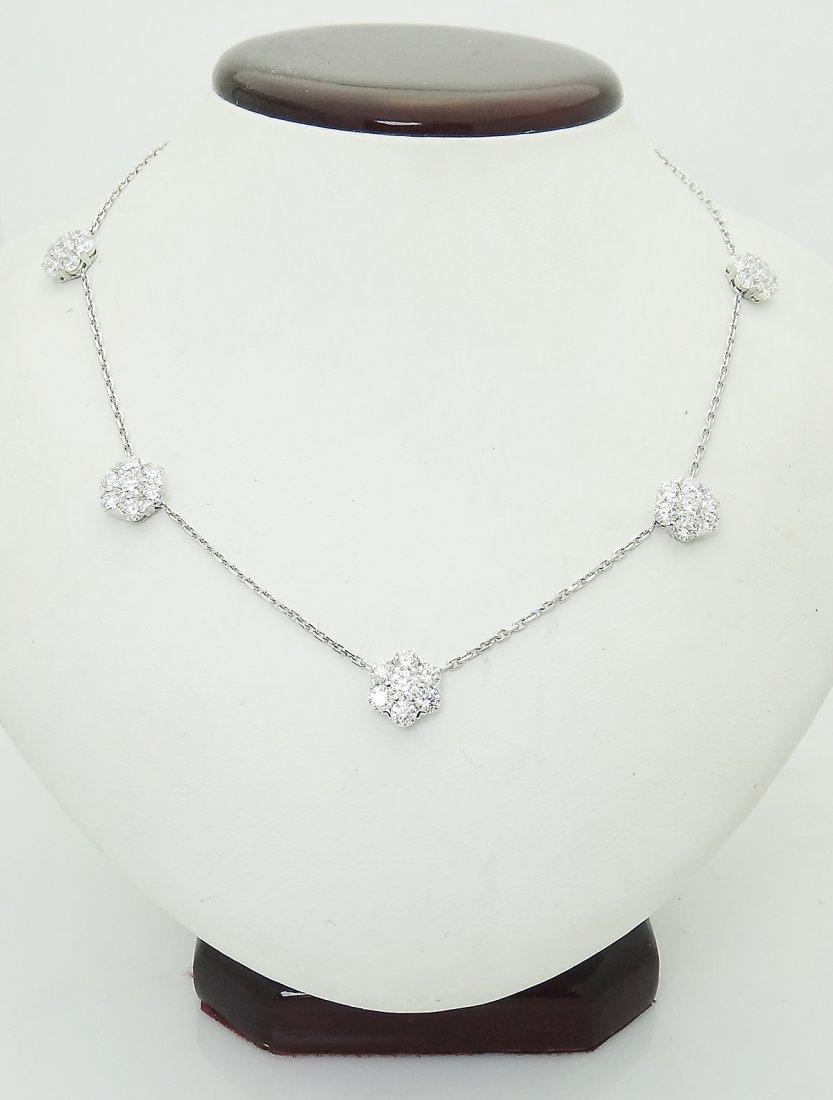 Van Cleef & Arpels 18k 4.70 TCW  Diamond Necklace