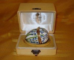 Beautiful Russian Silver Enamel Egg