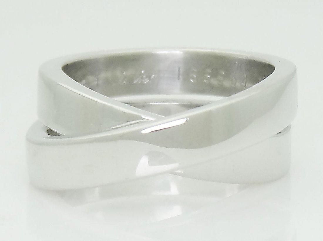Cartier La Nouvelle 18K White Gold Ring Size 5.75