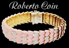 Roberto Coin 18k R W G P Enamel 201 TCW Diamond Cobra