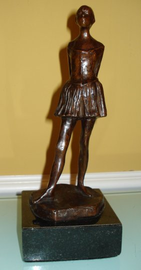 French Edgar Degas Bronze Sculpture Of Ballerina