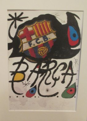After Joan Miro Color Lithograph