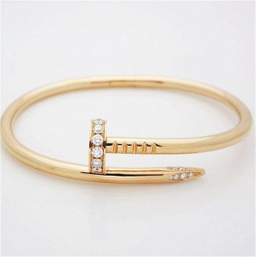 135f9074818b0 Cartier Juste Un Clou 18K Bangle Diamond Head Bracelet