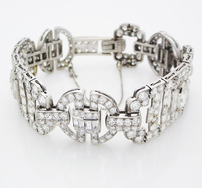 Estate Antique Cartier Bracelet 11Ct of VS/E Diamonds