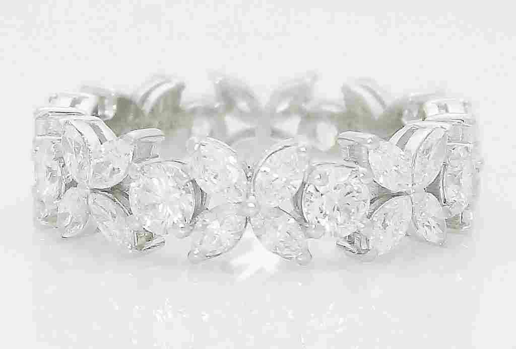 Tiffany & Co Victoria Alternating Diamond Band Ring