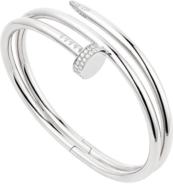 Cartier 18K Gold Juste Un Clou Diamond Bangle Nail