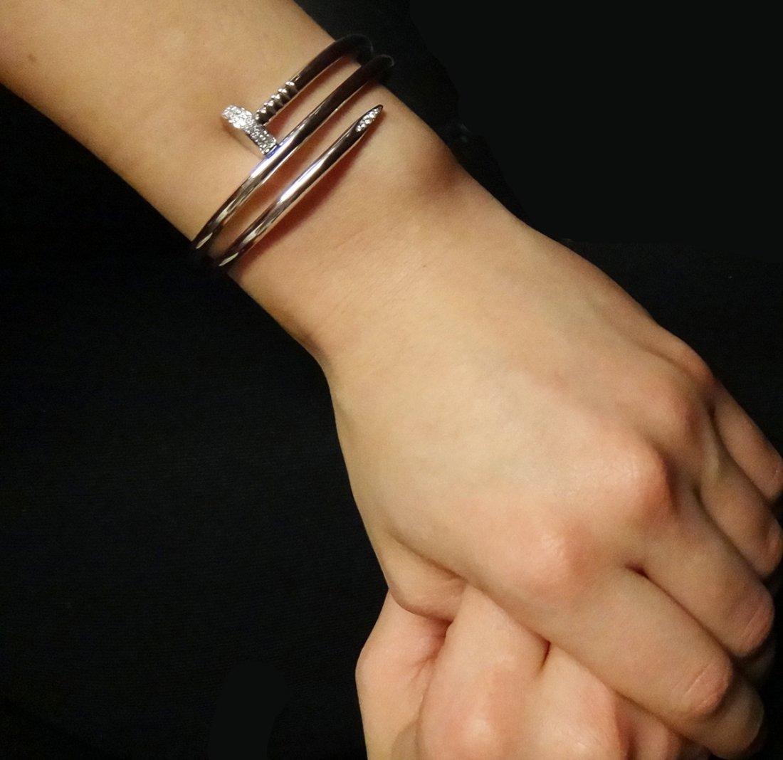 Cartier 18K Gold Juste Un Clou Diamond Bangle Nail - 2