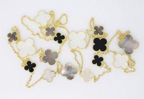 Van Cleef & Arpels Alhambra 18k Gold 16 Motif Necklace