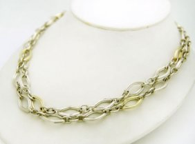 Charles Krypell 14k Gold & Sterling Silver Two In One