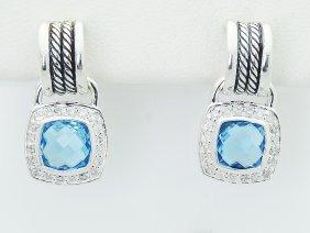 David Yurman 925 Sterling Silver Black Diamond Cross