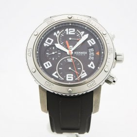 Hermes Men's Watch. 45mm Stainless Steel Case