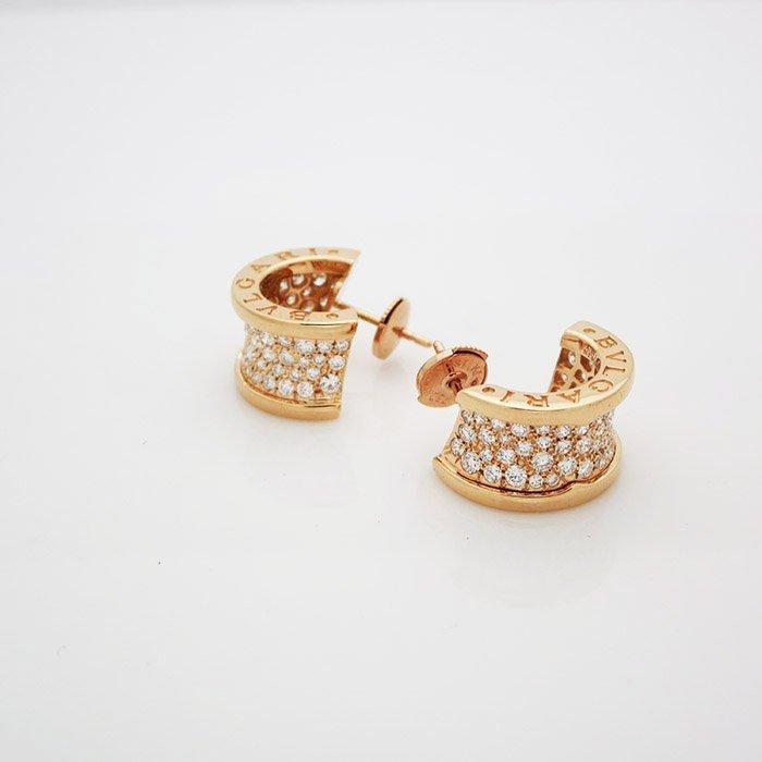 Bvlgari B. Zero 1 18 kt 4.4tcw Pavé Diamond Earrings
