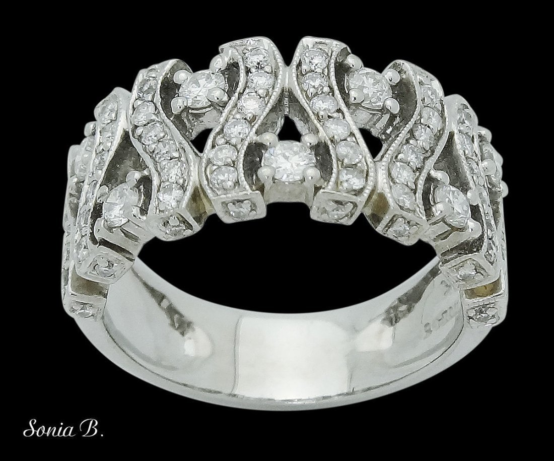Sonia B. 18k White Gold & Apx. 1.00 TCW SI H Diamond