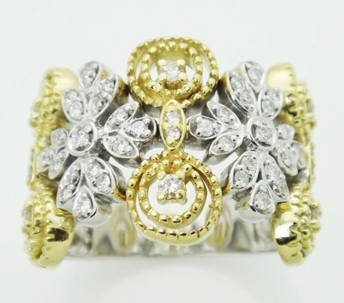 Sonia B. 18k Two Tone Gold 0.53 Carat F Diamond 0.66""