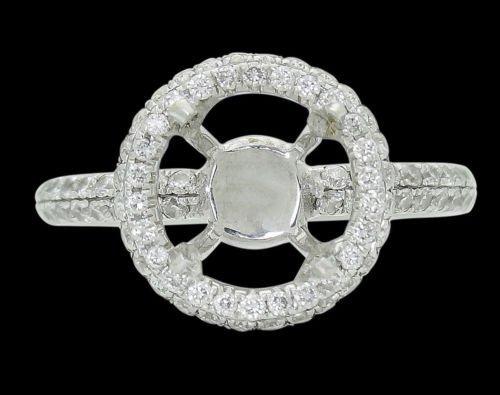 18k White Gold & 0.64 TCW VS2 SI1 Diamond Engagement