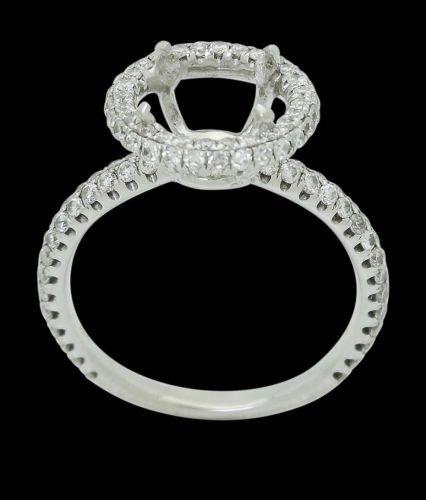 18k White Gold & 0.64 TCW VS2 SI1 Diamond Engagement - 5
