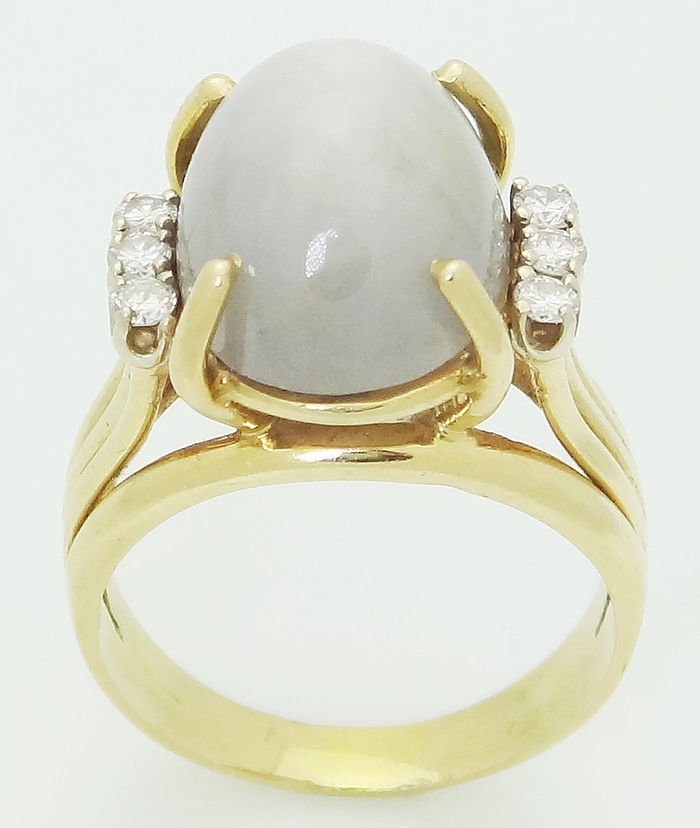Estate 14k Yellow Gold Round Cut Diamond & Star