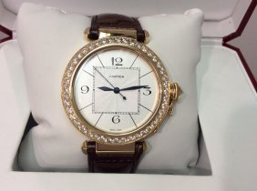 18kt Cartier Yellow Gold Pasha With Box & Papers
