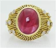 Van Cleef & Arpels 18k Gold Burma Ruby & Diamond Ring