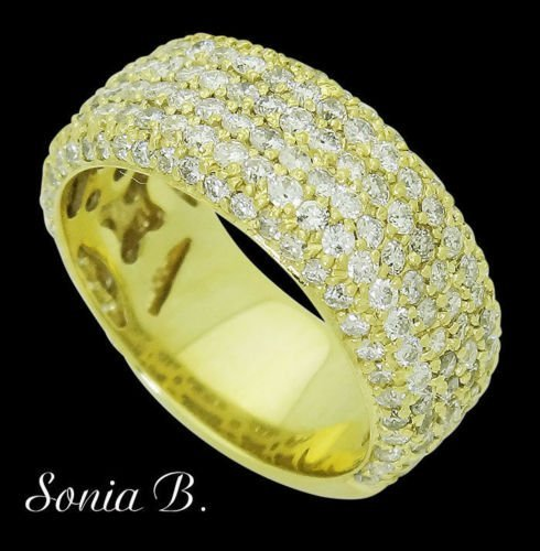 Sonia B. 18k Yellow Gold & 3.30 TCW VS Clarity H Color