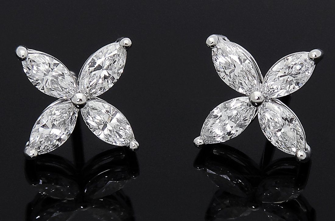 Tiffany & Co Victoria PT 950 1.62 TCW Marquise Cut