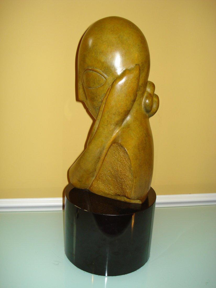 CONSTANTIN BRANCUSI HUGE BRONZE SCULPTURE OF WOMEN HEAD - 5