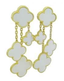 Van Cleef & Arpels 18k Magic Alhambra 4 Motifs Earrings