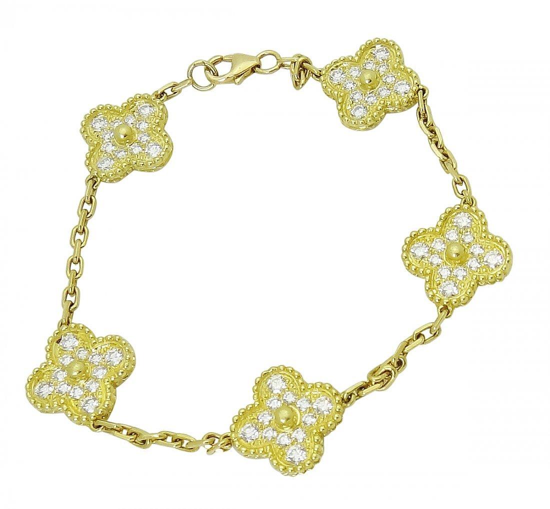 Van Cleef & Arpels 18k Sweet Alhambra Diamond Bracelet