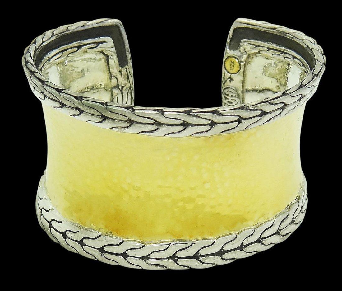 John Hardy 22k Yellow Gold & Sterling Silver Palu Cuff
