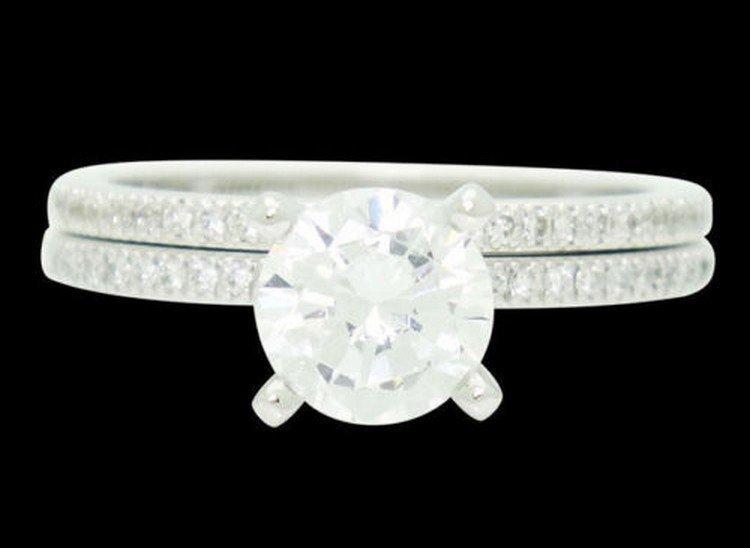 Simon G Platinum 0.80 TCW VS G-H Diamond Engagement