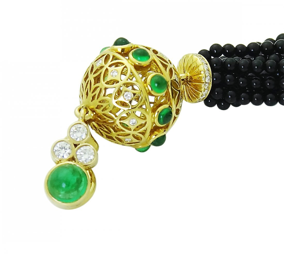 Tiffany & Co. Tassel Clip On Earrings with Black Onyx - 6