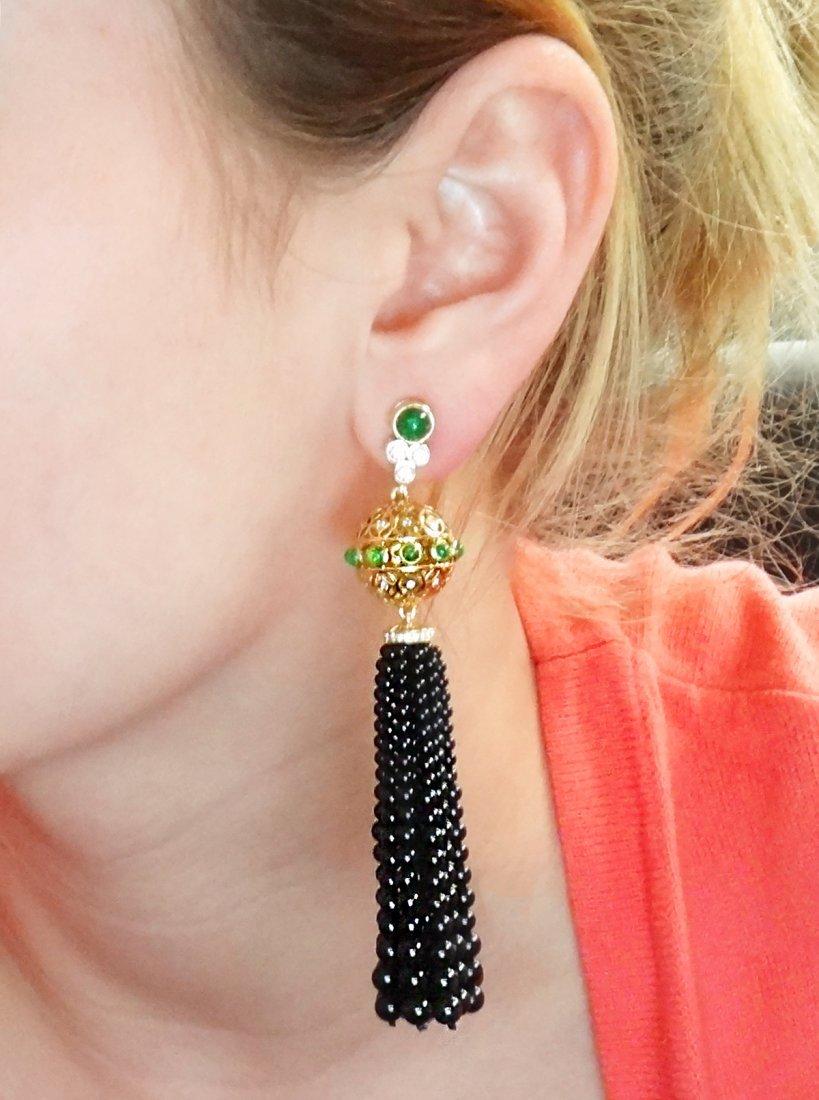 Tiffany & Co. Tassel Clip On Earrings with Black Onyx - 7