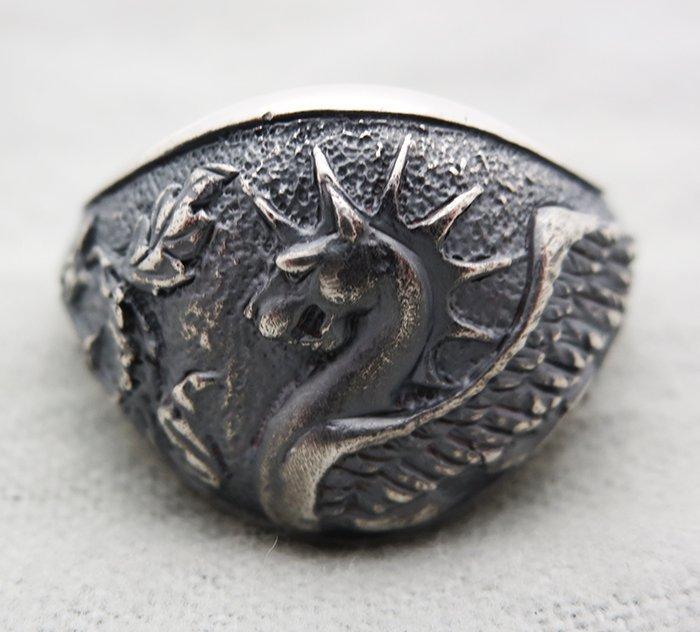 David Yurman Sterling Silver Griffin Dragon Ring size