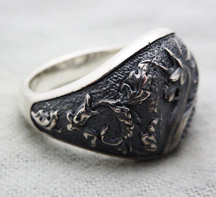 David Yurman Sterling Silver Griffin Dragon Ring size - 3