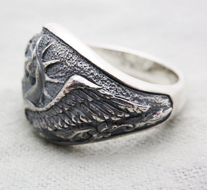 David Yurman Sterling Silver Griffin Dragon Ring size - 4