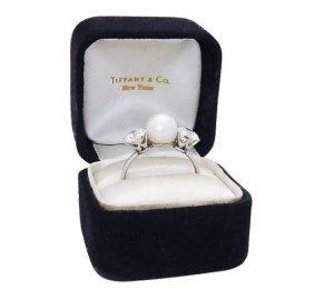 Tiffany & Co PT Round Brilliant Cut Diamond & Natural