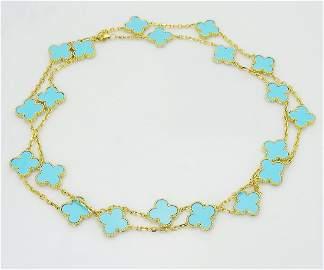 Van Cleef & Arpels Vintage Alhambra 18k  Gold Necklace