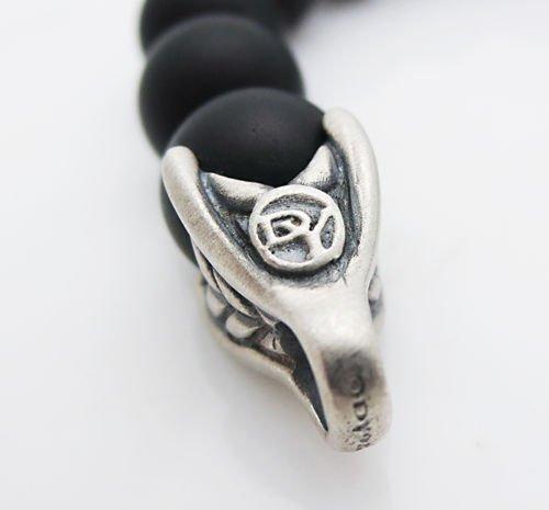 "DAVID YURMAN 8.5\"" 8mm Spiritual Wave Bracelet Blacelet - 2"