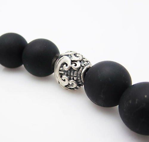 "DAVID YURMAN 8.5\"" 8mm Spiritual Wave Bracelet Blacelet - 6"