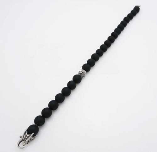 DAVID YURMAN 8mm Spiritual Bead Black Onyx Bracelet - 3