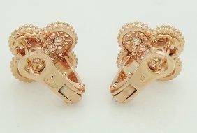 Van Cleef Arpels 18k Magic Alhambra Diamond Earrings - 3