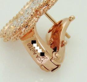 Van Cleef Arpels 18k Magic Alhambra Diamond Earrings - 4